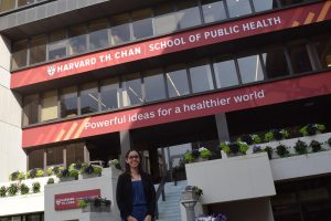 Valerie Santiago Gonzalez at the Harvard School of Public Health, Boston, Massachusetts.