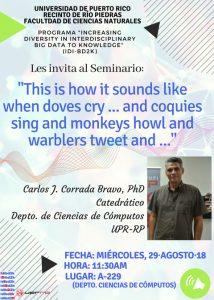 Flyer for seminar.